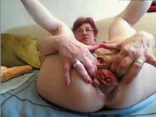Horny gilf gets two bbcs for her birthday 4